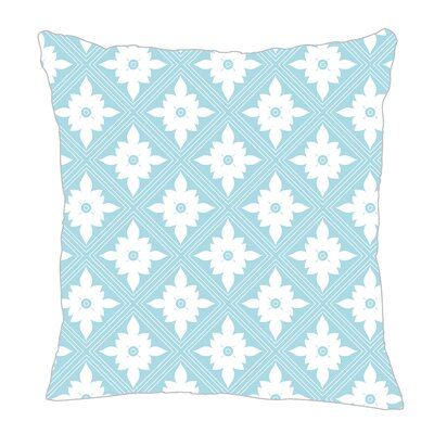Kaleidoscope Throw Pillow Size: 16 H x 16 W x 5 D, Color: Light Blue/White