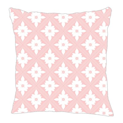 Kaleidoscope Throw Pillow Size: 18 H x 18 W x 5 D, Color: Pink
