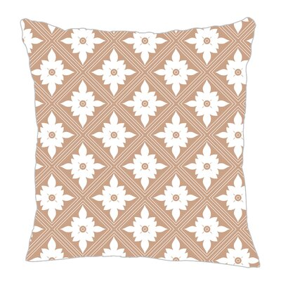 Kaleidoscope Throw Pillow Size: 18 H x 18 W x 5 D, Color: Light Brown