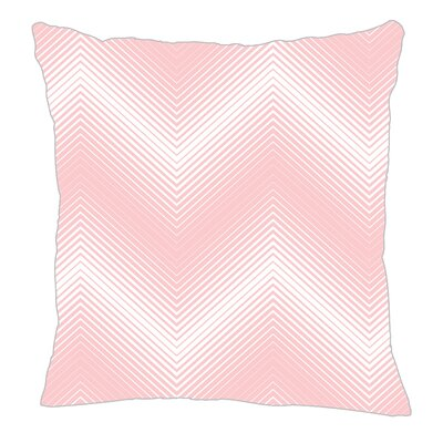 Modern Chevron Throw Pillow Color: Pink, Size: 16 H x 16 W x 5 D
