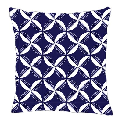 Pinwheel Throw Pillow Size: 16 H x 16 W x 5 D, Color: Navy