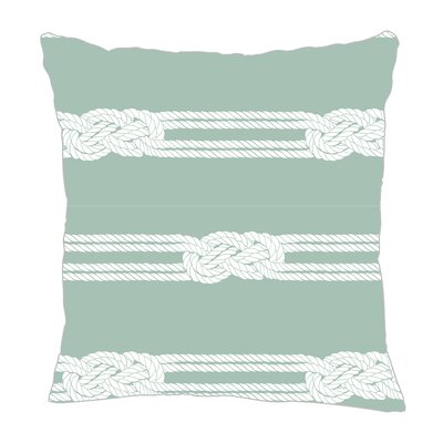 Nautical Ropes Throw Pillow Size: 16 H x 16 W x 5 D, Color: Pale Blue/White