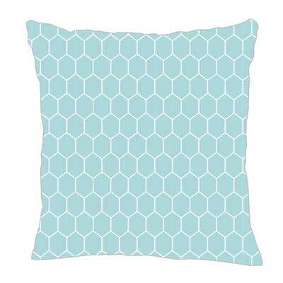 Throw Pillow Size: 16 H x 16 W x 5 D, Color: Light Blue/White