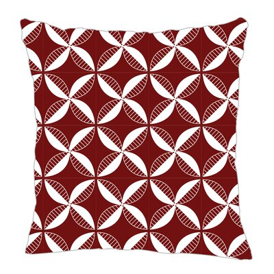 Pinwheel Throw Pillow Color: Maroon, Size: 18 H x 18 W x 5 D