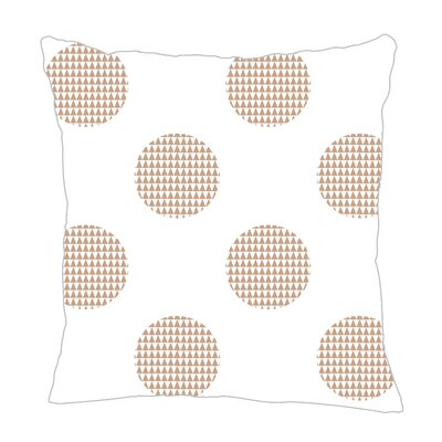 Modern Dot Throw Pillow Size: 16 H x 16 W x 5 D, Color: Light Brown