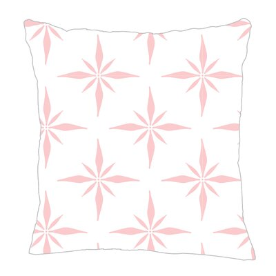 Nautical Compass Throw Pillow Color: Pink, Size: 20 H x 20 W x 5 D