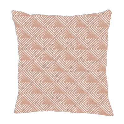 Origami Throw Pillow Color: Light Brown, Size: 20 H x 20 W x 5 D