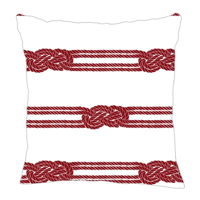 Nautical Ropes Throw Pillow Size: 18 H x 18 W x 5 D, Color: Red
