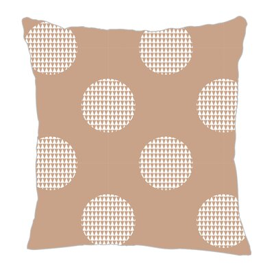 Modern Dot Throw Pillow Size: 16 H x 16 W x 5 D, Color: Light Brown/White