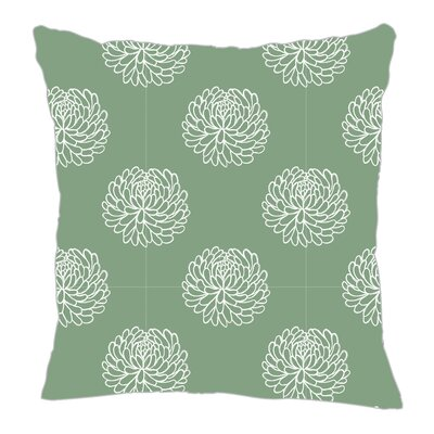 Peony Throw Pillow Size: 16 H x 16 W x 5 D, Color: Seamist