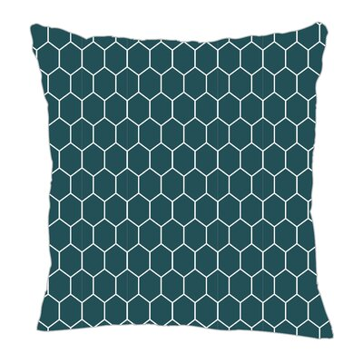 Throw Pillow Color: Teal, Size: 16 H x 16 W x 5 D