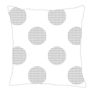 Modern Dot Throw Pillow Color: Gray, Size: 20 H x 20 W x 5 D