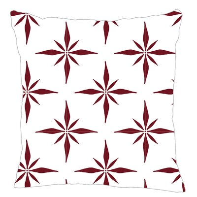 Nautical Compass Throw Pillow Color: Maroon, Size: 20 H x 20 W x 5 D