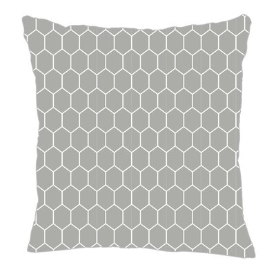 Throw Pillow Size: 18 H x 18 W x 5 D, Color: Gray
