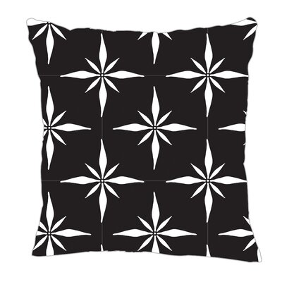 Nautical Compass Throw Pillow Size: 16 H x 16 W x 5 D, Color: Black/White