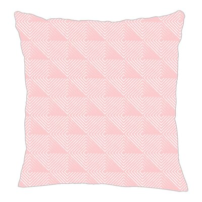 Origami Throw Pillow Color: Pink, Size: 18 H x 18 W x 5 D