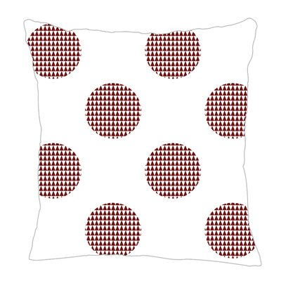 Modern Dot Throw Pillow Color: Maroon, Size: 18 H x 18 W x 5 D