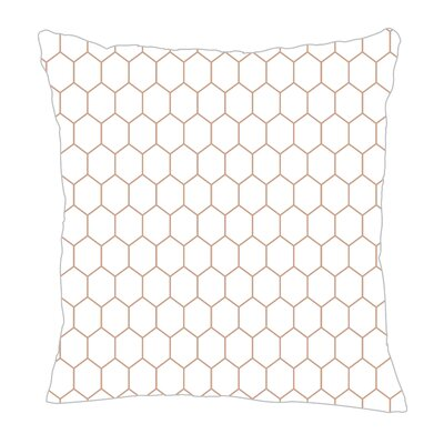 Throw Pillow Size: 20 H x 20 W x 5 D, Color: Light Brown/White