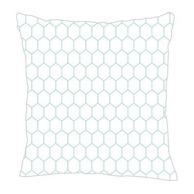 Throw Pillow Color: Light Blue, Size: 16 H x 16 W x 5 D