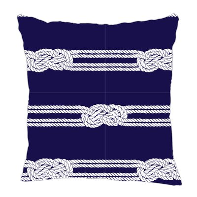 Nautical Ropes Throw Pillow Color: Navy/White, Size: 18 H x 18 W x 5 D