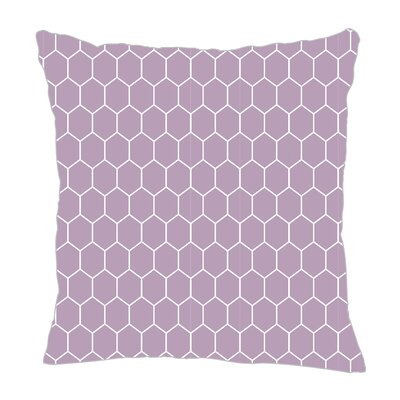 Throw Pillow Color: Lilac, Size: 16 H x 16 W x 5 D
