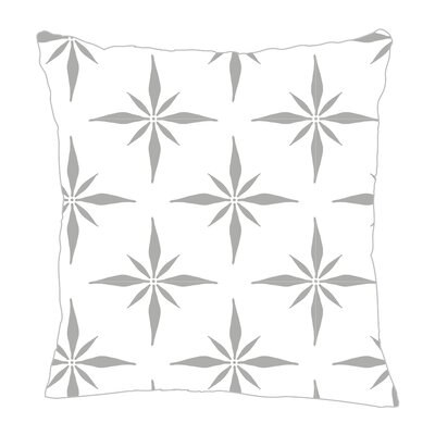 Nautical Compass Throw Pillow Size: 20 H x 20 W x 5 D, Color: Gray