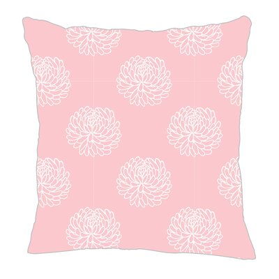 Peony Throw Pillow Size: 18 H x 18 W x 5 D, Color: Pink