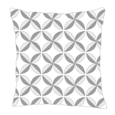 Pinwheel Throw Pillow Size: 20 H x 20 W x 5 D, Color: Gray