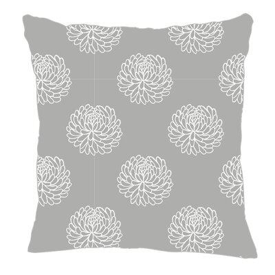 Peony Throw Pillow Size: 20 H x 20 W x 5 D, Color: Gray