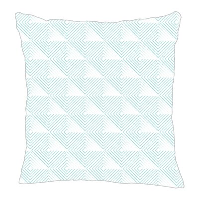 Origami Throw Pillow Color: Light Blue, Size: 20 H x 20 W x 5 D