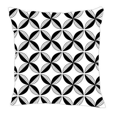 Pinwheel Throw Pillow Size: 18 H x 18 W x 5 D, Color: Black