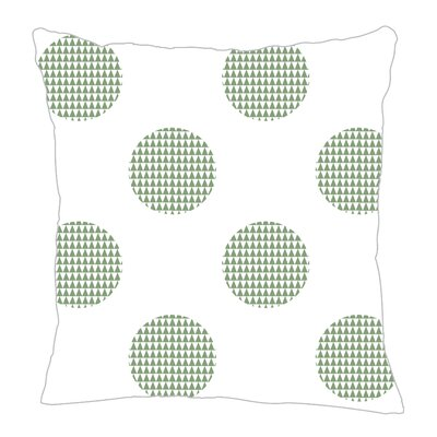 Modern Dot Throw Pillow Size: 16 H x 16 W x 5 D, Color: Seamist