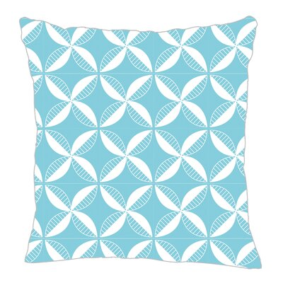 Pinwheel Throw Pillow Color: Light Blue, Size: 20 H x 20 W x 5 D