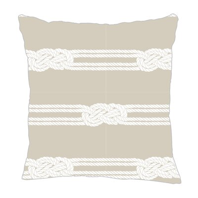Nautical Ropes Throw Pillow Size: 18 H x 18 W x 5 D, Color: Sand/White