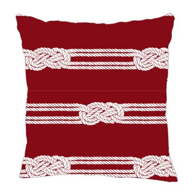 Nautical Ropes Throw Pillow Size: 16 H x 16 W x 5 D, Color: Red/White