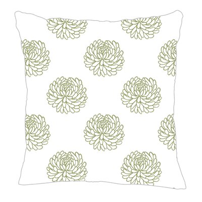 Peony Throw Pillow Size: 18 H x 18 W x 5 D, Color: Sage