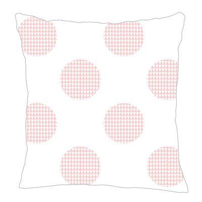 Modern Dot Throw Pillow Size: 20 H x 20 W x 5 D, Color: Pink