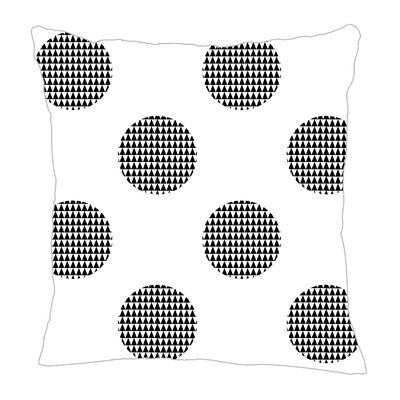 Modern Dot Throw Pillow Size: 16 H x 16 W x 5 D, Color: Black
