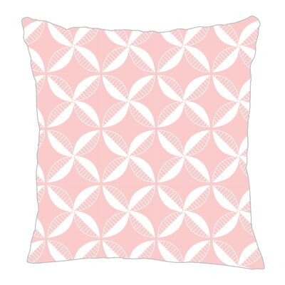Pinwheel Throw Pillow Color: Pink/White, Size: 20 H x 20 W x 5 D