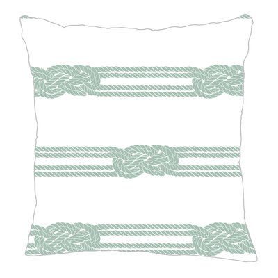 Nautical Ropes Throw Pillow Size: 16 H x 16 W x 5 D, Color: Pale Blue