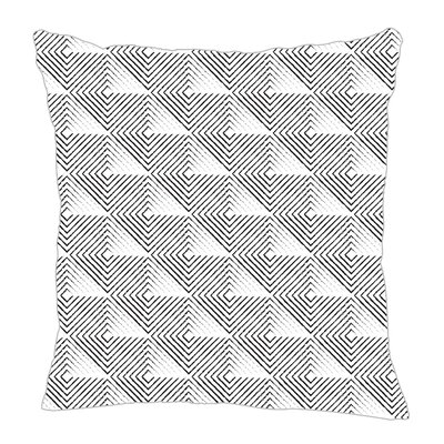 Origami Throw Pillow Size: 16 H x 16 W x 5 D, Color: Black