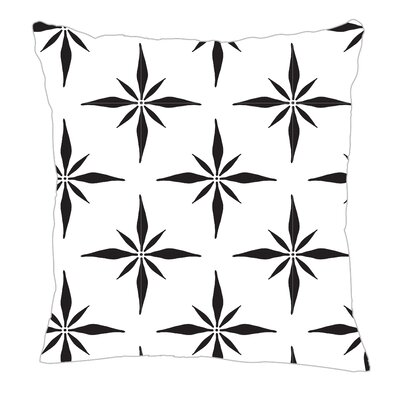 Nautical Compass Throw Pillow Size: 20 H x 20 W x 5 D, Color: Black