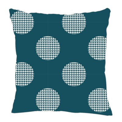 Modern Dot Throw Pillow Size: 20 H x 20 W x 5 D, Color: Teal