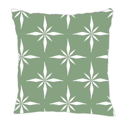 Nautical Compass Throw Pillow Size: 18 H x 18 W x 5 D, Color: Seamist