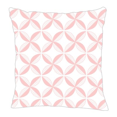 Pinwheel Throw Pillow Size: 16 H x 16 W x 5 D, Color: Pink