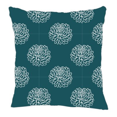 Peony Throw Pillow Size: 16 H x 16 W x 5 D, Color: Teal