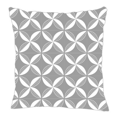 Pinwheel Throw Pillow Size: 16 H x 16 W x 5 D, Color: Gray/White