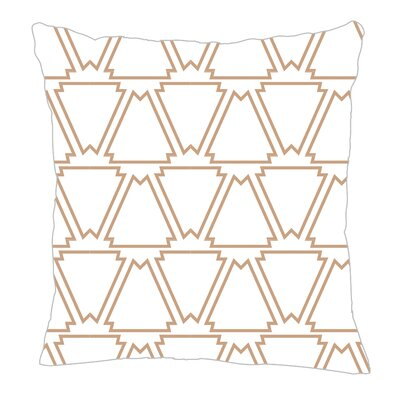 Throw Pillow Size: 16 H x 16 W x 5 D, Color: Seamist/White