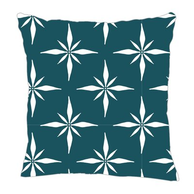 Nautical Compass Throw Pillow Size: 18 H x 18 W x 5 D, Color: Teal