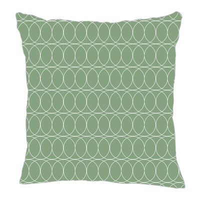 Spiral Graph Throw Pillow Size: 20 H x 20 W x 5 D, Color: Seamist